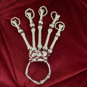 Accessories - ☠️ Skeleton Hand Metal Glove | Bracelet Rings